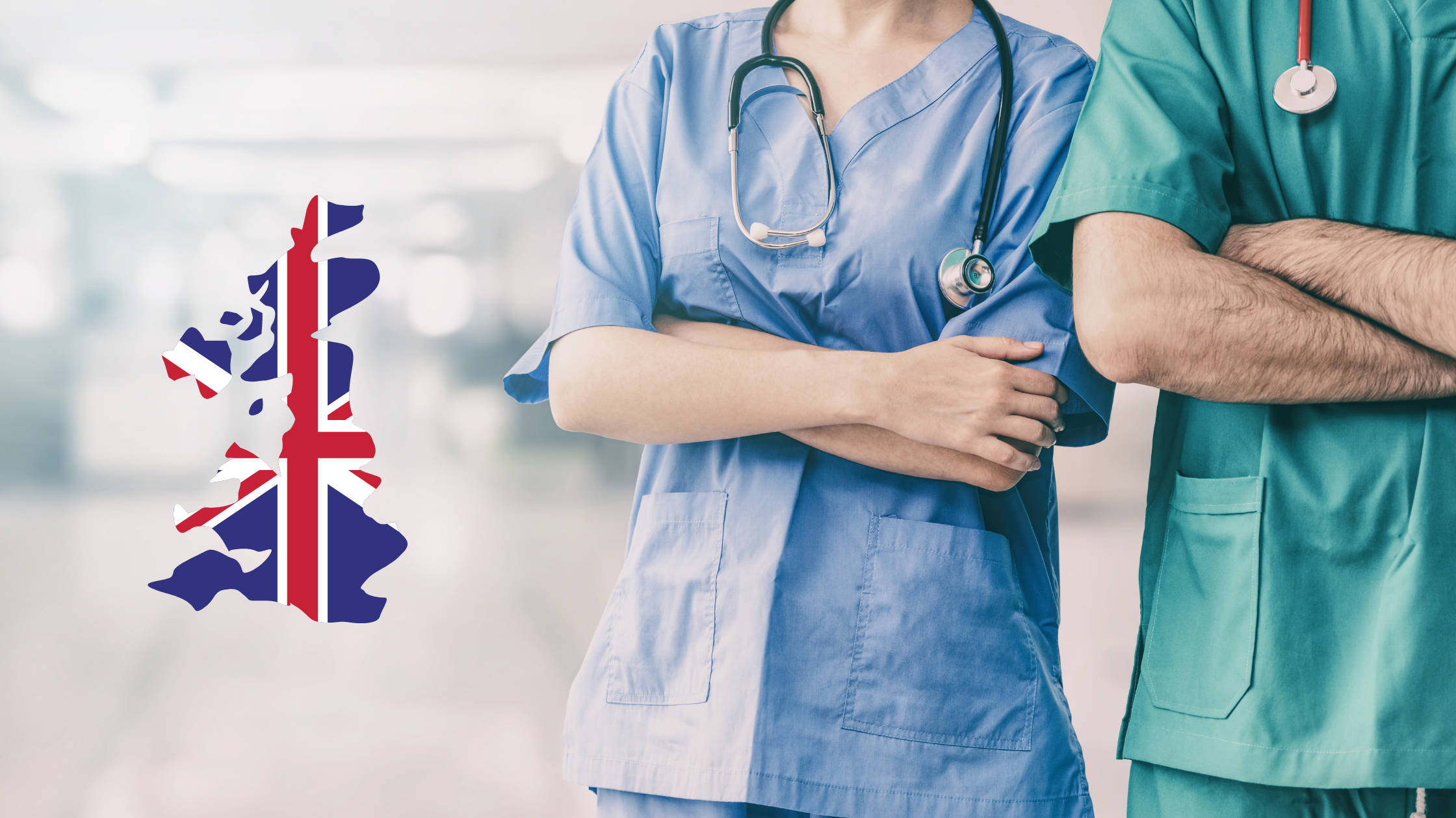 doctor and nurse working in the UK